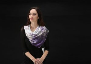 Store|Purple Crush Square Scarf by Teresa Neal